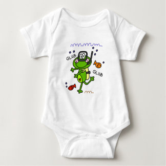 Scuba Diving Froggie Boy Baby Infant Creeper