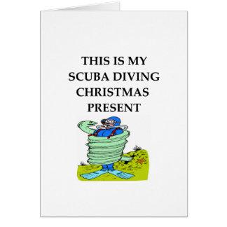 scuba diving greeting card