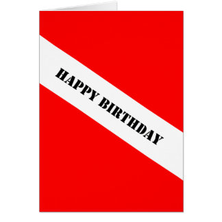 Scuba Diving Happy Birthday Card