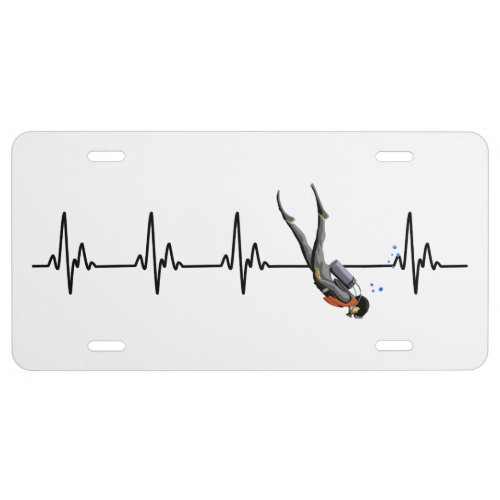 SCUBA Diving Heartbeat License Plate