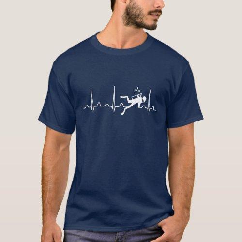 Scuba Diving Heartbeat T_Shirt