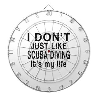 SCUBA DIVING IS MY LIFE DARTBOARD WITH DARTS