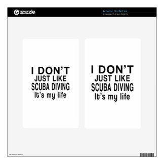 SCUBA DIVING IS MY LIFE KINDLE FIRE DECALS