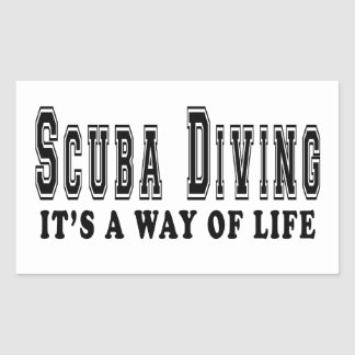 Scuba Diving It's way of life Rectangle Sticker
