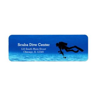 Scuba Diving Return Address Label
