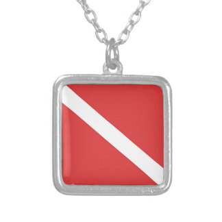 Scuba Diving Logo- Diver's Red White Flag Custom Jewelry