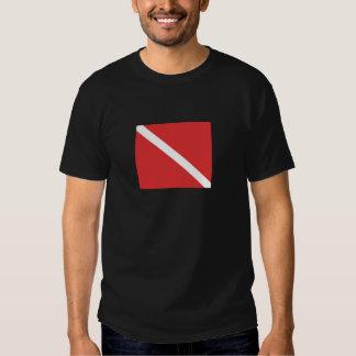 Scuba Diving Logo- Diver's Red White Flag Shirt