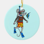 Scuba Diving Mouse Christmas Tree Ornaments
