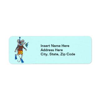 Scuba Diving Mouse Label