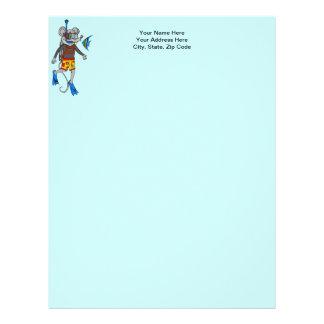 Scuba Diving Mouse Letterhead
