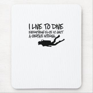 Scuba Diving Mouse Pad