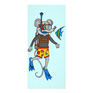 Scuba Diving Mouse Rack Card
