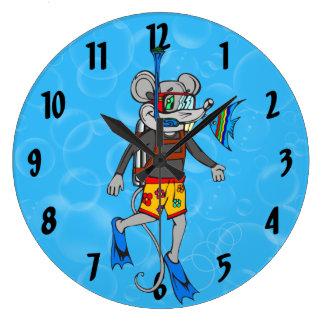 Scuba Diving Mouse Wall Clock