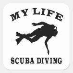 Scuba Diving My Life Square Sticker