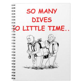 scuba diving notebook