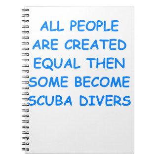 scuba diving note book