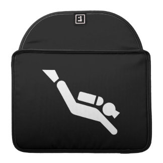 Scuba Diving Pictogram MacBook Pro Sleeve