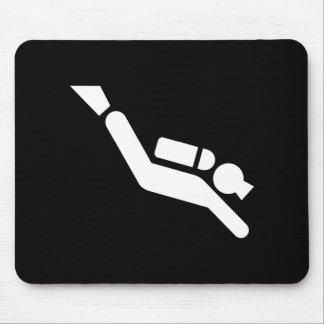 Scuba Diving Pictogram Mousepad