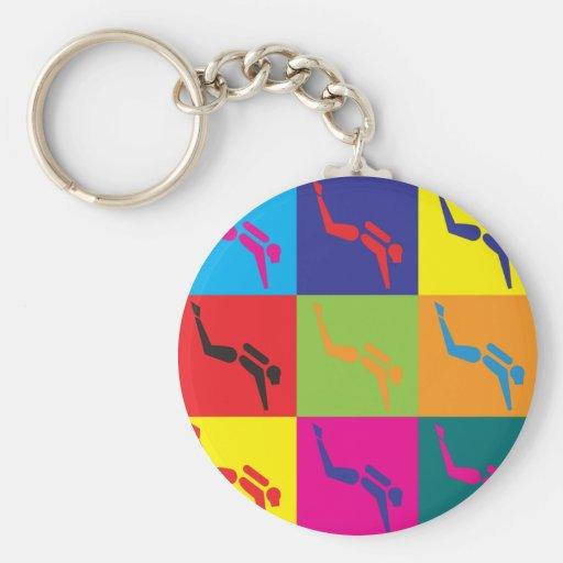 Scuba Diving Pop Art Keychain