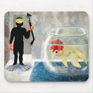 Scuba diving practice mouse pad