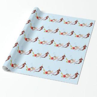 Scuba Diving Santa Claus Wrapping Paper