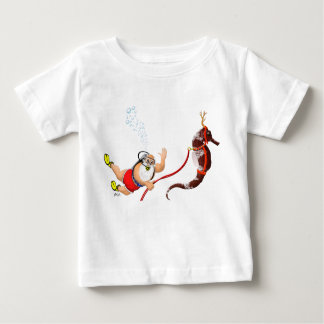 Scuba Diving Santa & Seahorse Infant T-shirt