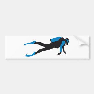 scuba diving sport etiqueta de parachoque