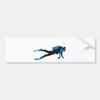 scuba diving sport pegatina de parachoque