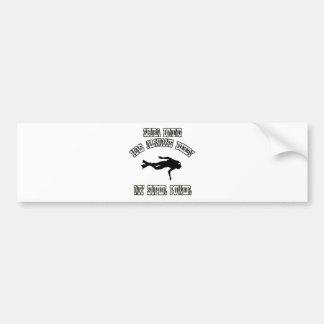 SCUBA DIVING sports designs Bumper Sticker