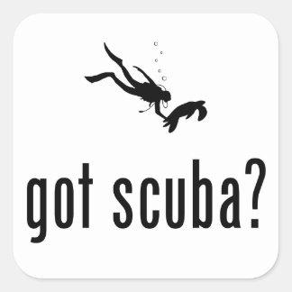 Scuba Diving Square Sticker