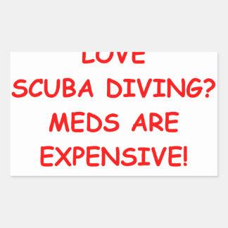 scuba diving sticker