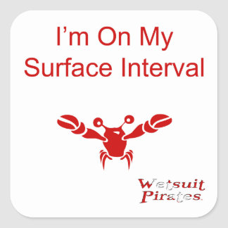 Scuba Diving Sticker: I'm On My Surface Interval