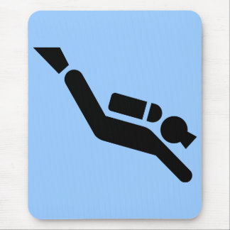 Scuba Diving Symbol Mousepad