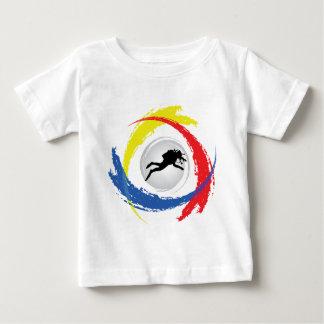 Scuba Diving Tricolor Emblem Baby T-Shirt