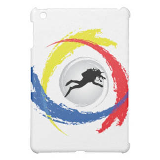 Scuba Diving Tricolor Emblem iPad Mini Cases