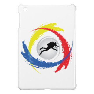 Scuba Diving Tricolor Emblem iPad Mini Covers
