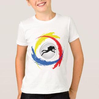 Scuba Diving Tricolor Emblem T-Shirt