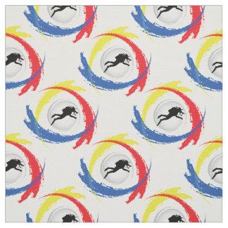 Scuba Diving Tricolor Sport Emblem Fabric