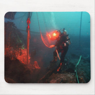 Scuba Diving Underwater Mouse Pad