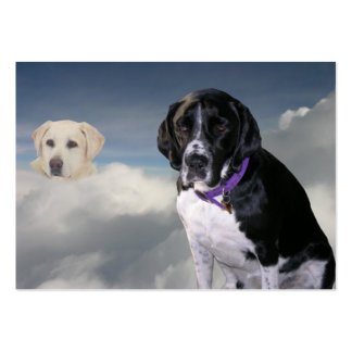 """Scuba Dog """"Sympathy"""" Trading Card Large Business Cards (Pack Of 100)"""