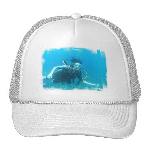Scuba Girl  Baseball Hat