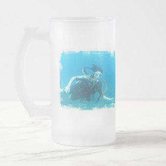 Scuba Girl Frosted Mug