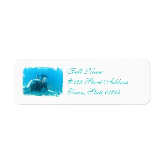 Scuba Girl Mailing Labels