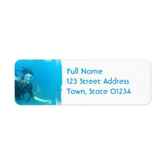Scuba Girl Mailing Labels