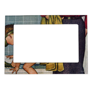 Scuba in the Tub Photo Frame Magnet