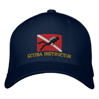 SCUBA Instructor Embroidered Cap