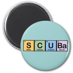 Round Magnet with Scuba design