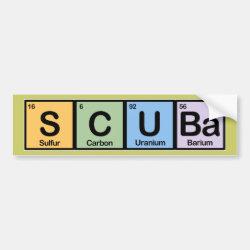 Bumper Sticker with Scuba design