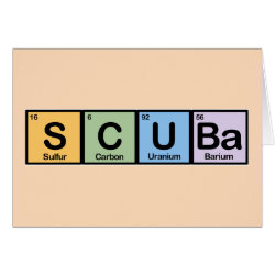Greeting Card with Scuba design