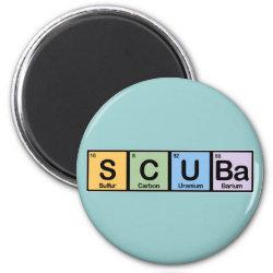 Round Magnet with Scuba design